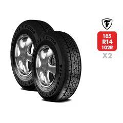 2 Neumáticos Firestone CV5000 185 R14C 102/100R