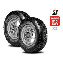 2 Neumáticos Bridgestone Dueler A/T REVO2 LT 265/70 R15 109S