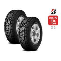 2 Neumáticos 215/70 R16 Bridgestone Dueler At697 100S