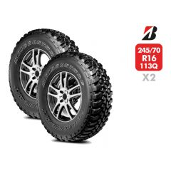 2 Neumáticos Bridgestone Dueler MT 674 113/110Q 245/70 R16