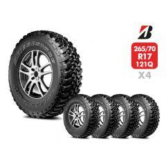 4 Neumáticos 265/70 R17 10T Bridgestone Dueler MT674 121/118QLT