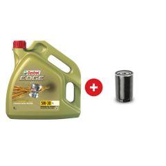 Cambio de aceite sintético Castrol Edge 5W30 + Filtro de aceite