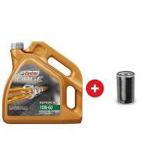 Cambio de aceite sintético Castrol Edge Sport 10W60 + Filtro de aceite