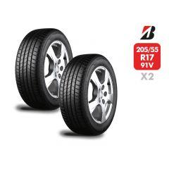 2 Neumáticos Bridgestone Turanza T005 91V 205/55 R17