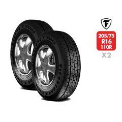 2 Neumáticos Firestone CV5000 205/75 R16C 110/108R