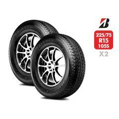 2 Neumáticos Bridgestone HT689 225/75 R15 105S