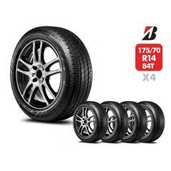4 Neumáticos Bridgestone Ecopia EP150 175/70 R14 84T