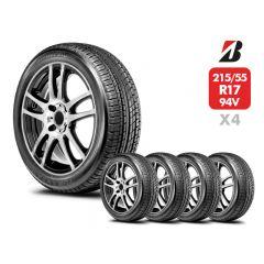 4 Neumáticos Bridgestone Turanza ER370 215/55 R17 94V