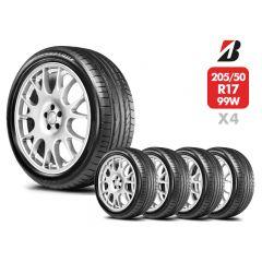 4 Neumáticos Bridgestone Potenza RE050A RFT 99W 205/50 R17