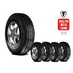 4 Neumáticos Firestone CV5000 225/70 R15C 104 102R