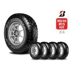 4 Neumáticos Bridgestone Dueler A/T 696 Revo2 205/65 R15 92T