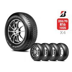 4 Neumáticos Bridgestone Dueler HT684 II 255/70 R16