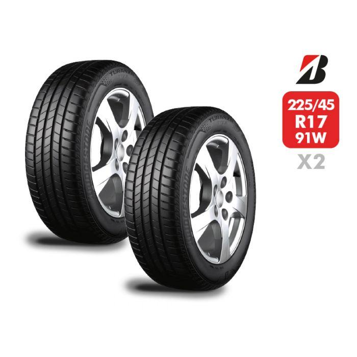 2 Neumáticos Bridgestone Turanza T005 225/45 R17 91W
