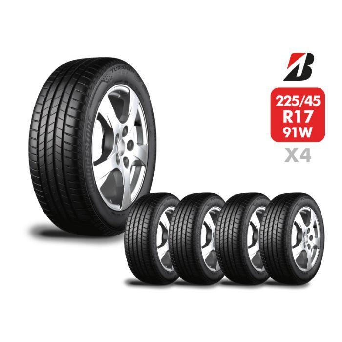4 Neumáticos Bridgestone Turanza T005 225/45 R17 91W