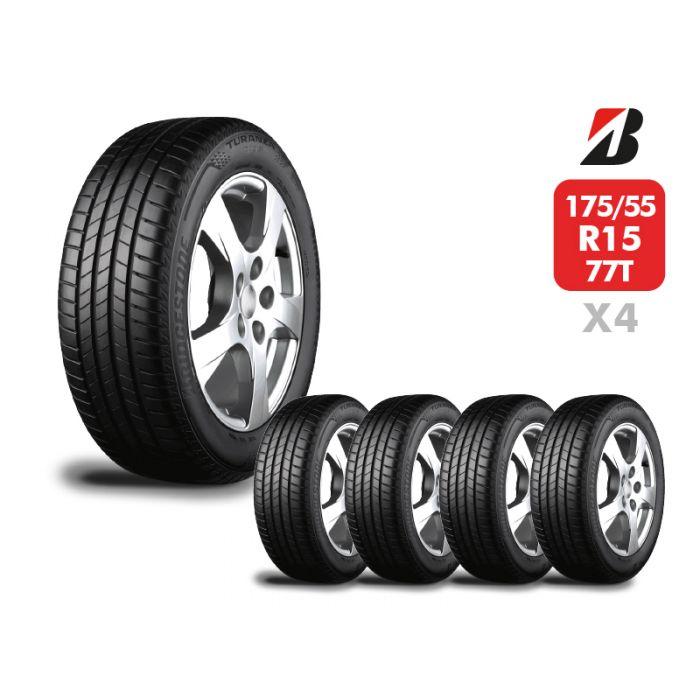 4 Neumáticos Bridgestone Turanza T005 175/55 R15 77T