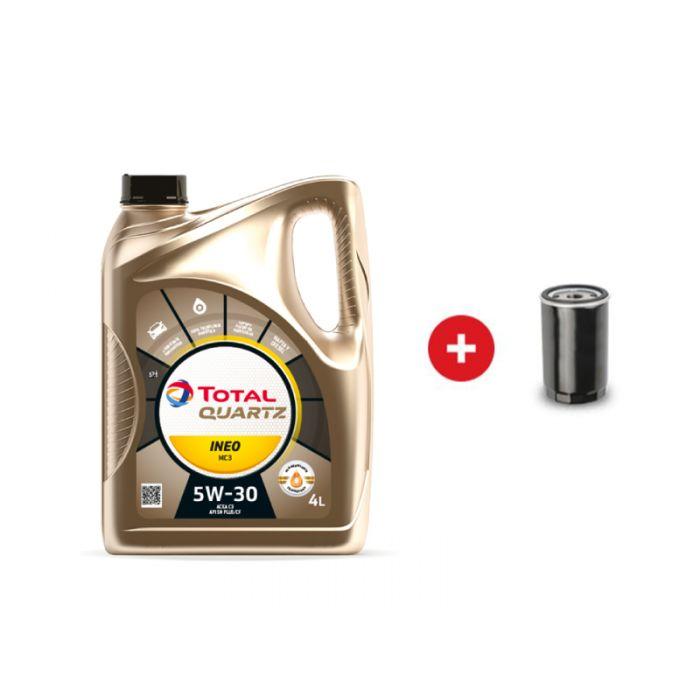 Cambio de aceite sintético Total Quartz INEO MC3 5w-30 + Filtro de aceite