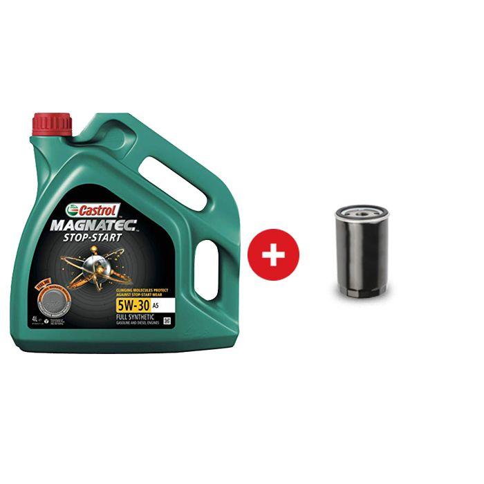 Cambio de Aceite Sintetico Castrol Magnatec A5 5W30 + Filtro de Aceite