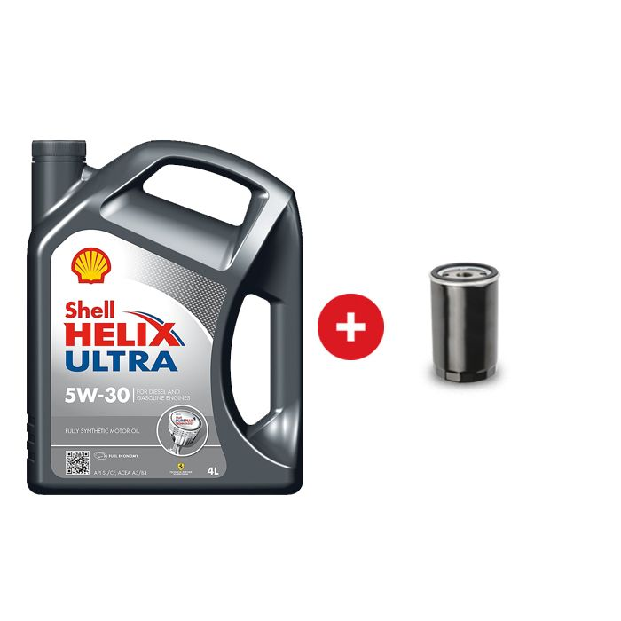 Cambio de aceite sintético Shell Helix Ultra 5W30 / 5W40 + Filtro de  aceite