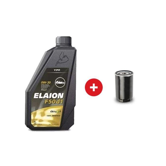 Cambio de aceite sintético YPF Elaion F50 d1 5w-30 + Filtro de aceite