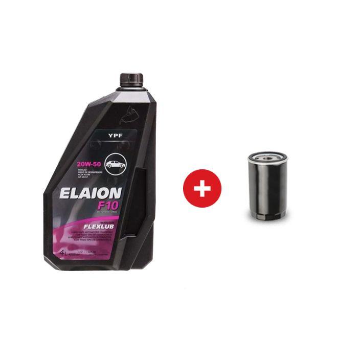 Cambio de aceite mineral YPF Elaion F10 20W50 + Filtro de aceite