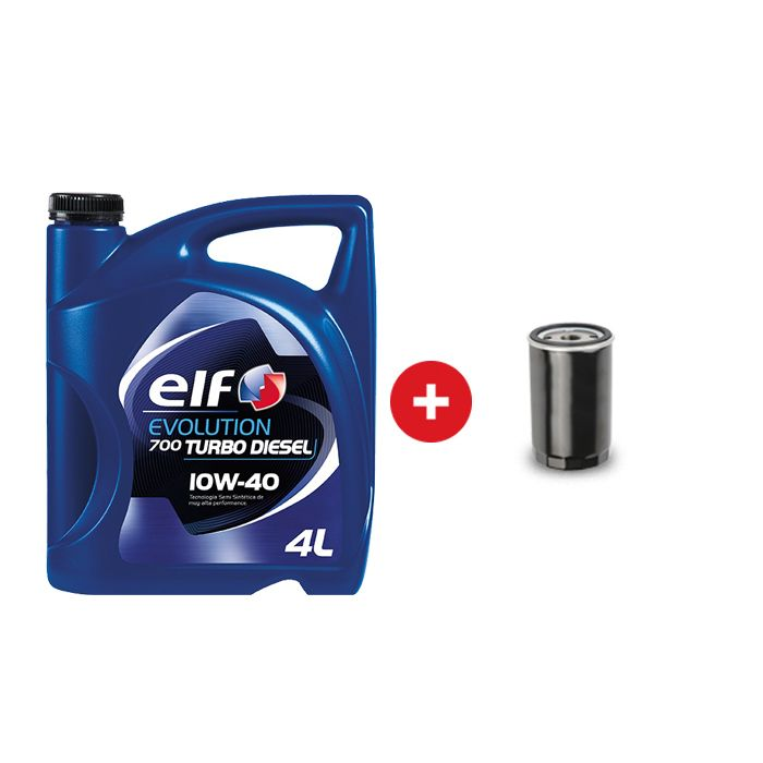 Cambio de aceite semi sintético ELF EVOLUTION 700 10W40 + Filtro de aceite