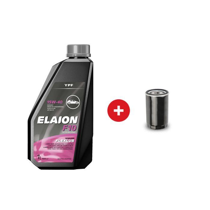 Cambio de aceite mineral YPF Elaion F10 performance 15W40 + Filtro de aceite