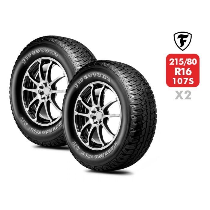 2 Neumáticos Firestone Destination At 107S 215/80 R16