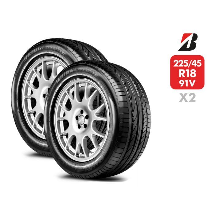 2 Neumáticos Bridgestone Dueler Hp Sport RFT 91V 205/55 R17
