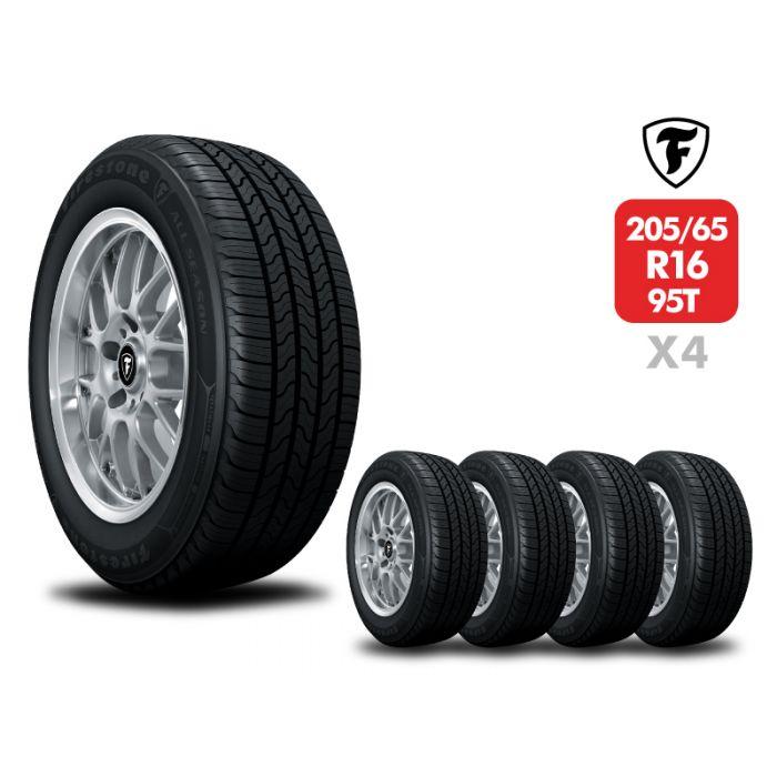 4 Neumáticos Firestone All Season 95T 205/65 R16