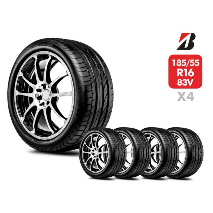 4 Neumáticos Bridgestone Turanza Er300 83V 185/55 R16