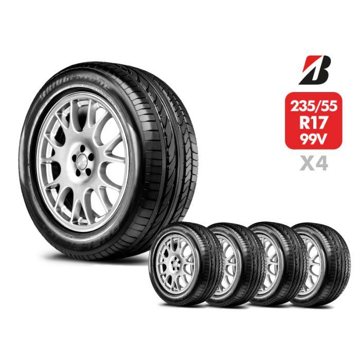 4 Neumáticos Bridgestone Dueler Hp Sport 99V 235/55 R17